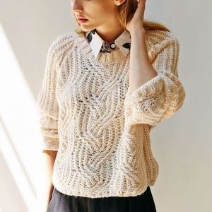 Urban Outfitters Kimchi Cable Knit Sweater